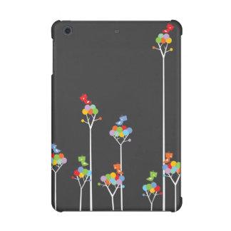 Whimsical Cute Tweet Birds Colorful Fun Tree Dots