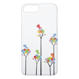 Whimsical Cute Tweet Birds Colorful Fun Tree Dots iPhone 7 Plus Case