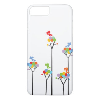 Whimsical Cute Tweet Birds Colorful Fun Tree Dots iPhone 8 Plus/7 Plus Case
