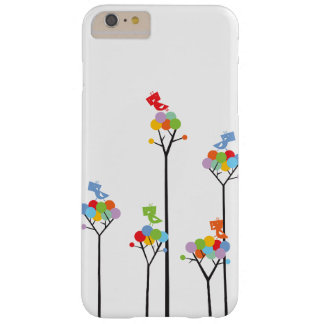 Whimsical Cute Tweet Birds Colourful Fun Tree Dots Barely There iPhone 6 Plus Case