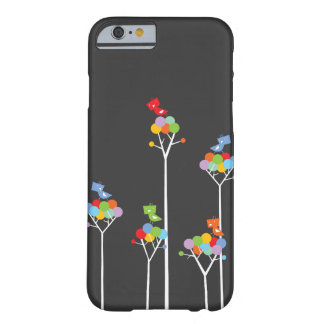 Whimsical Cute Tweet Birds Colourful Fun Tree Dots Barely There iPhone 6 Case