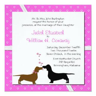 Whimsical Dachshunds Wedding Invitation