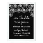 Whimsical Daisies Save the Date Invite, Black 13 Cm X 18 Cm Invitation Card