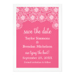 Whimsical Daisies Save the Date Invite, Pink