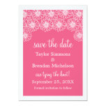 Whimsical Daisies Save the Date Invite, Pink 13 Cm X 18 Cm Invitation Card