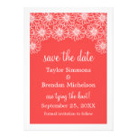Whimsical Daisies Save the Date Invite, Red