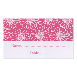 Whimsical Daisies Wedding Place Card Business Card Template