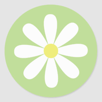 Whimsical Daisy Classic Round Sticker