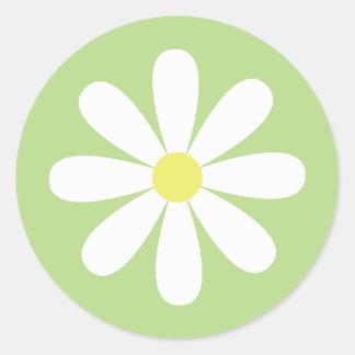Whimsical Daisy Round Sticker