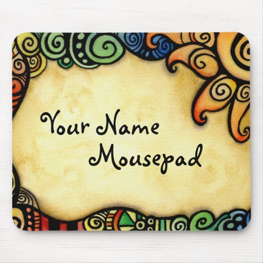 Whimsical Design with Sun Mousepad