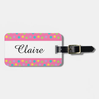 Whimsical Dots Luggage Tag