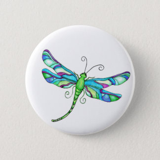 Whimsical Dragonflies 6 Cm Round Badge