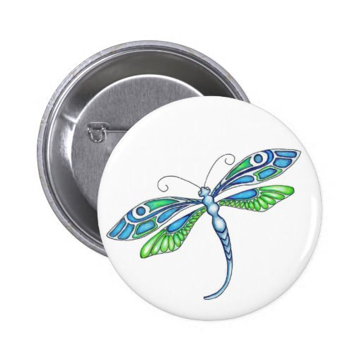 Whimsical Dragonflies Pinback Button