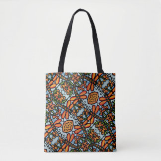 Whimsical Dragonflies Blue And Orange Tote Bag