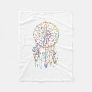Whimsical Dream Catcher Watercolor Girly Fleece Blanket