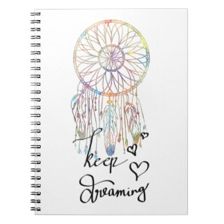 Whimsical Dream Catcher Watercolor Keep Dreaming Notebook