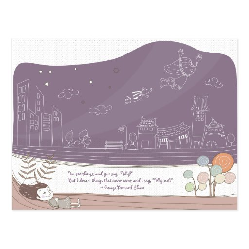 Whimsical Dreamscape 1 Postcard