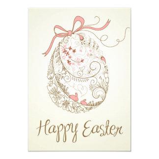 Whimsical Easter Egg | Vintage Flat Easter Card 13 Cm X 18 Cm Invitation Card