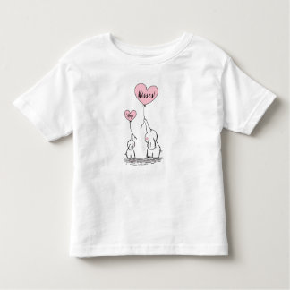 Whimsical Elephants Hugs And Kisses Toddler T-Shirt