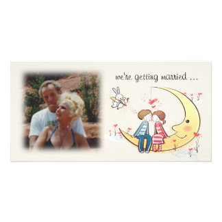 Whimsical Engagement Announcement Photo Card