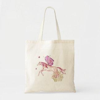 Whimsical fairy horse shopping bag