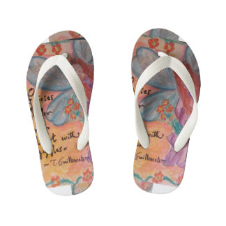 whimsical fairy kid's flip flops