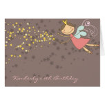 Whimsical Fairy Stars Birthday Thank You Note Card