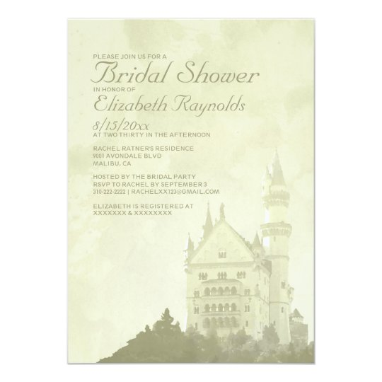 Whimsical Fairytale Castle Bridal Shower Invites
