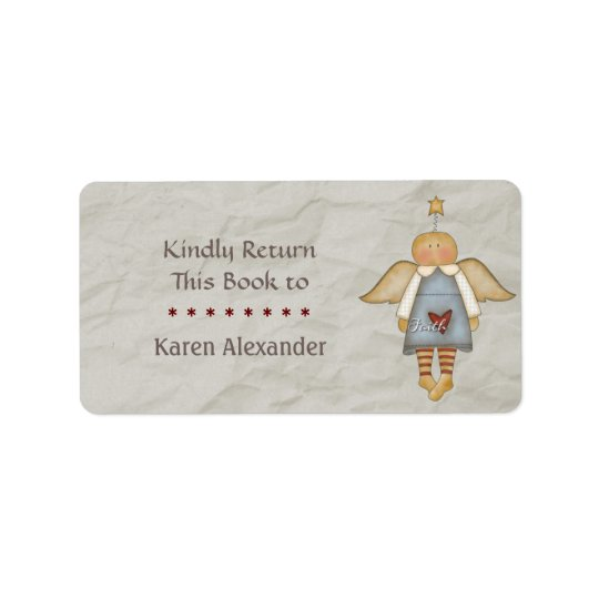 Whimsical Faith Angel Book Return Label