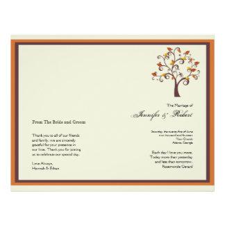 Whimsical Fall Tree Wedding Program Custom Flyer