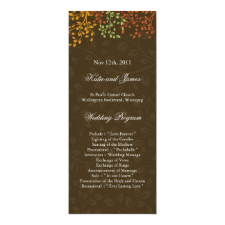 Whimsical Fall Wedding Program