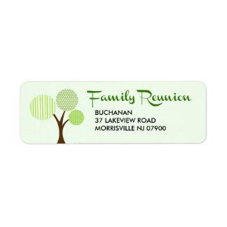 Whimsical Family Tree Family Reunion Return Return Address Label