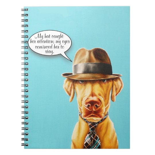 Whimsical Fancy Dog Notebook