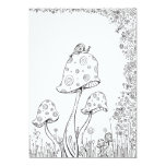 Whimsical Fantasy Mushroom Flower Colouring Card