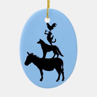 Whimsical Farm Animals Christmas Tree Ornament