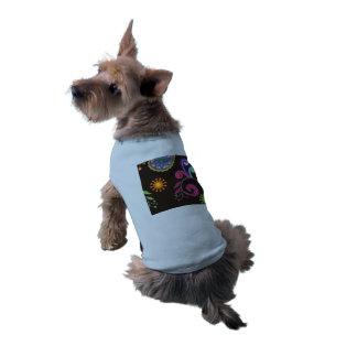 Whimsical Floral Design Sleeveless Dog Shirt