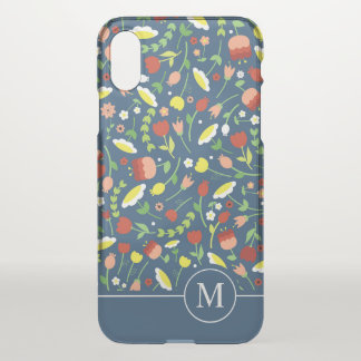 Whimsical Floral Ditzy Monogram | iPhone X Case