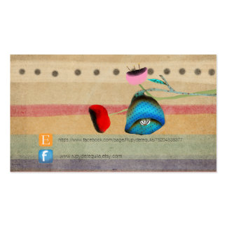 Whimsical Floral Pink and Red Pack Of Standard Business Cards