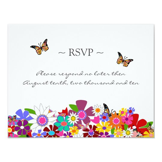 Whimsical Floral Reply Cards