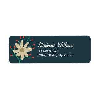 Whimsical Floral Return Address Labels