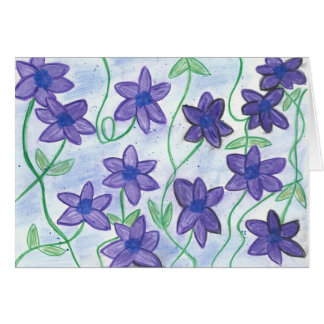 Whimsical-Floral River Greeting WaterColor Color Greeting Card