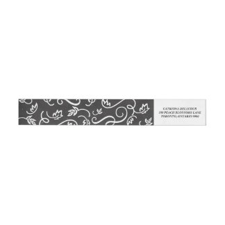 Whimsical Florals | Faux Chalkboard Wrap Around Label