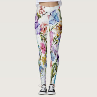 WHIMSICAL FLORALS LEGGINGS
