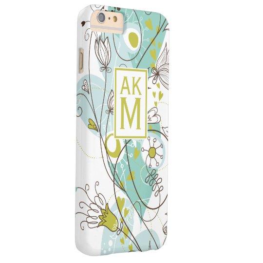 Whimsical Florals Monogram iPhone 6 Plus Case