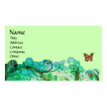 WHIMSICAL FLOURISHES bright green blue