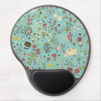 Whimsical Flower Garden Gel Mouse Mats