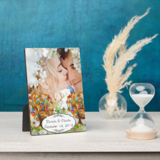 Whimsical Flower Tree Wedding Plaque