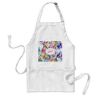 WHIMSICAL FLOWERS AND BUTTERFLIES STANDARD APRON