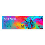 WHIMSICAL FLOWERS AND GOLD  BUTTERFLY PACK OF SKINNY BUSINESS CARDS