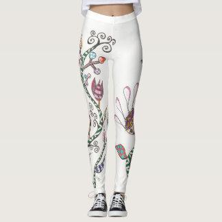 Whimsical Flowers Leggings